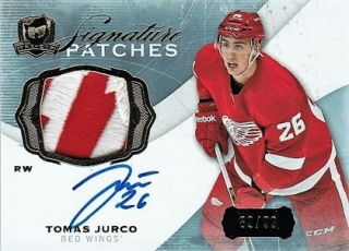 hokejová karta Tomáš Jurčo UD The Cup 2014-15 Signature Patches /99