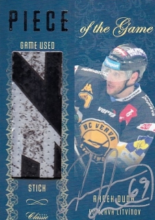 Hokejová karta Radek Duda OFS 15/16 Piece Of the Game Sign. 10/10