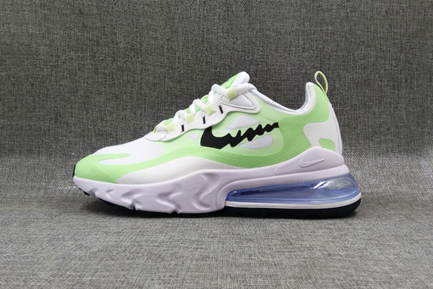 Air Max 270 React - White fluorescent green