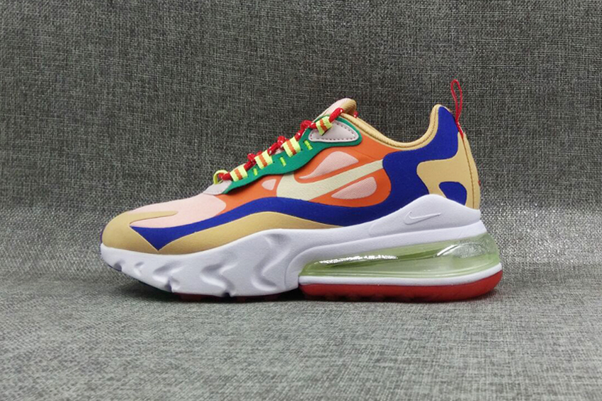 Air Max 270 React - Blue/Green/Beige/Orange