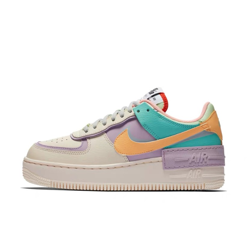 Air Force 1 - Shadow Purple/Yellow/Turquoise