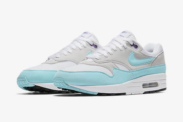 Air Max 1 - White/Gray/Turquoise