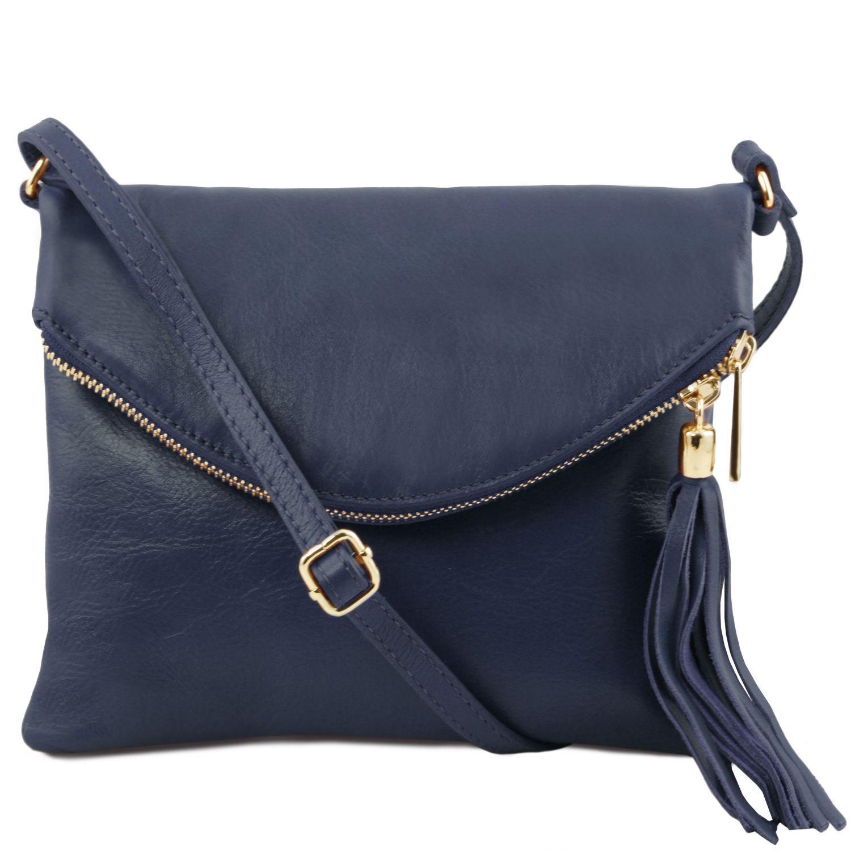 TL Young bag - Taška přes rameno se střapcovým detailem - Tmavě modrá barva