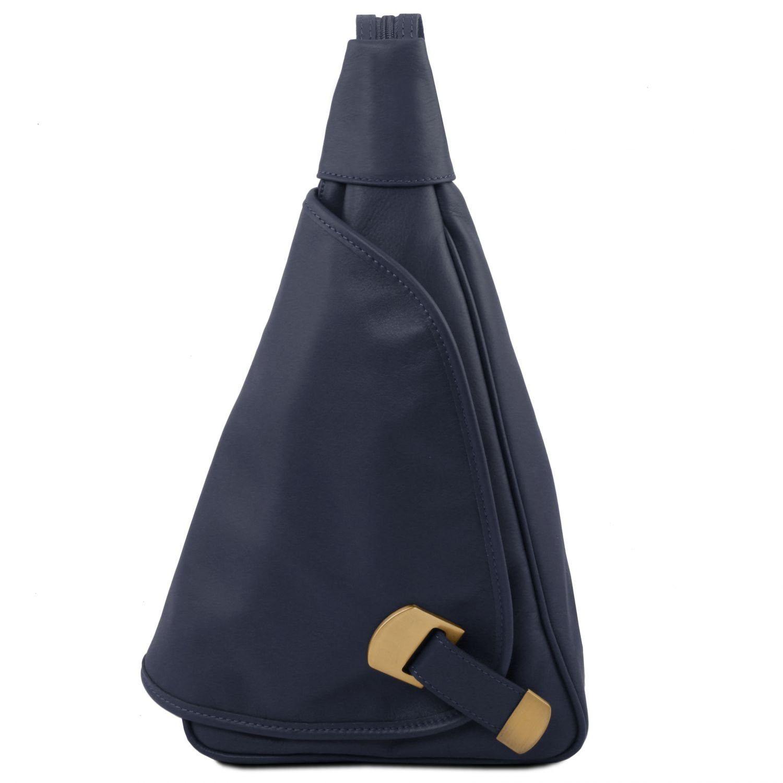 Hanoi - Kožený batoh - Tmavě modrá barva