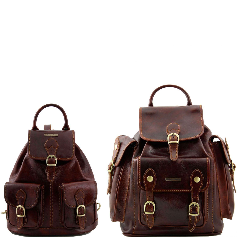 Trekker - Cestovní sada kožených batohů - Hnědá barva