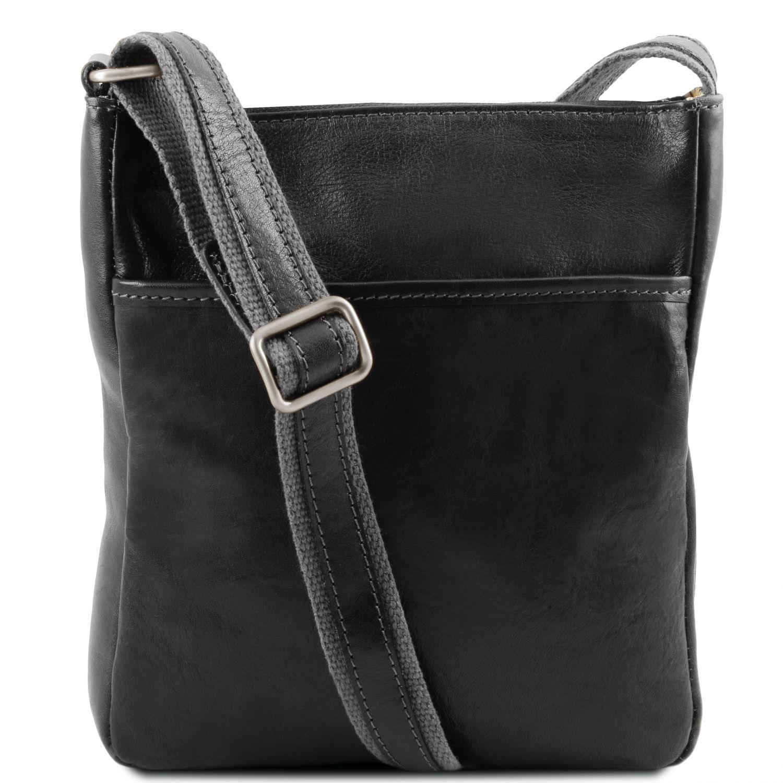 Jason - Kožená crossbody kabelka - Černá barva