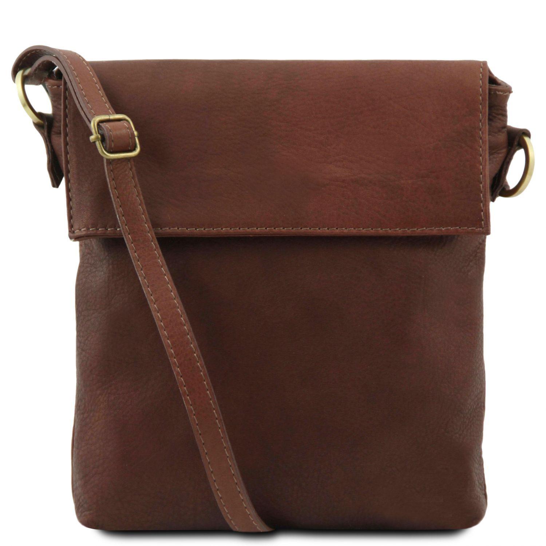 Morgan - Kožená taška přes rameno - Hnědá barva