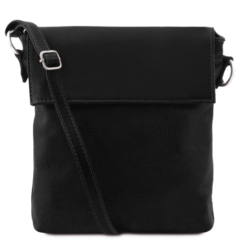 Morgan - Kožená taška přes rameno - Černá barva