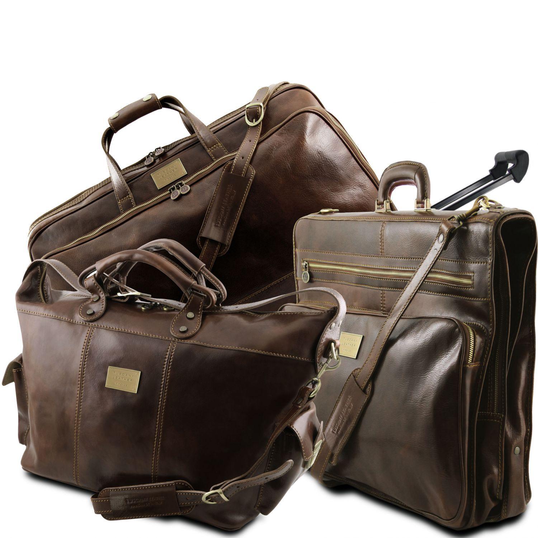 Luxurious - Cestovní sada tašek - Tmavě hnědá barva