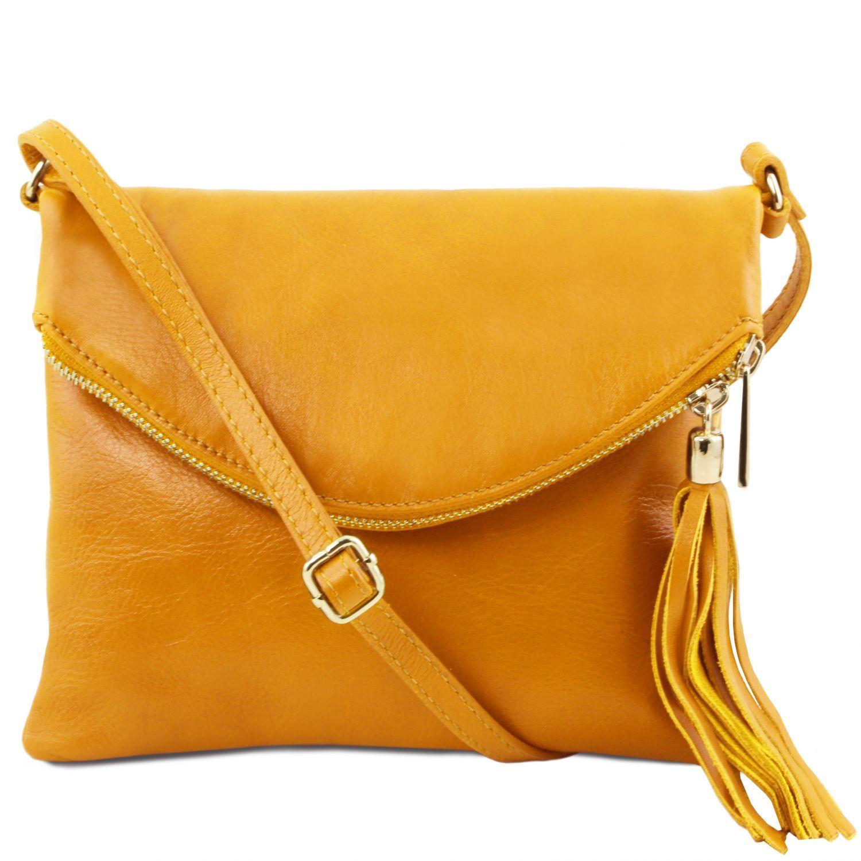 TL Young bag - Taška přes rameno se střapcovým detailem - Žlutá barva
