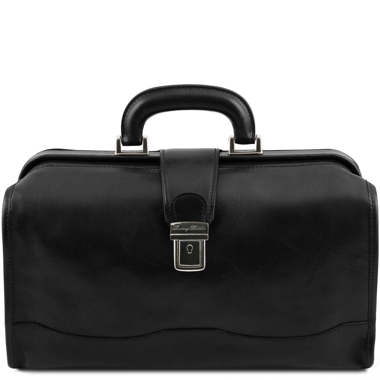 Raffaello - Kožená doktorská taška - Černá barva