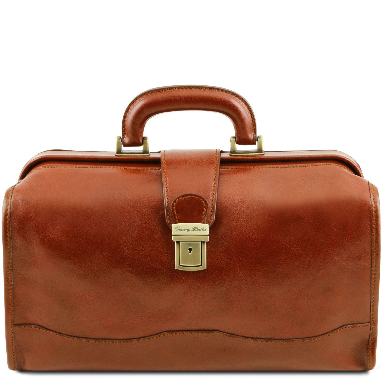 Raffaello - Kožená doktorská taška - Světle hnědá barva