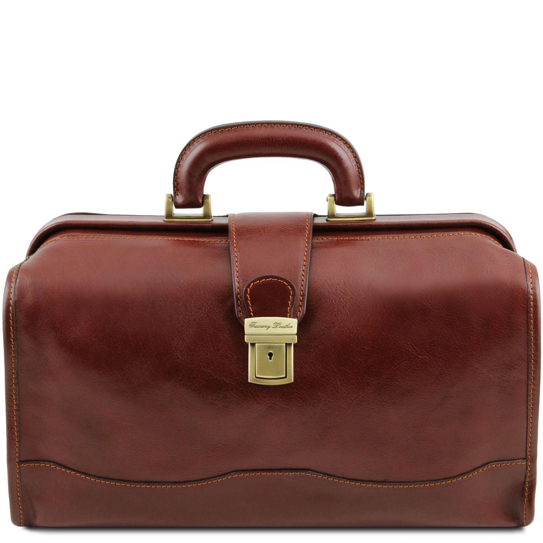 Raffaello - Kožená doktorská taška - Hnědá barva