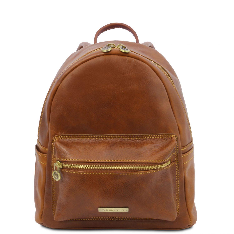 Sydney - Kožený batoh - Světle hnědá barva