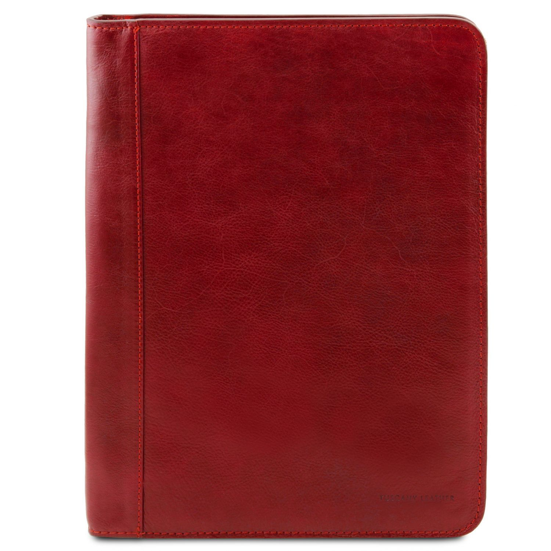 Ottavio - Kožené pouzdro na dokumenty - Červená barva