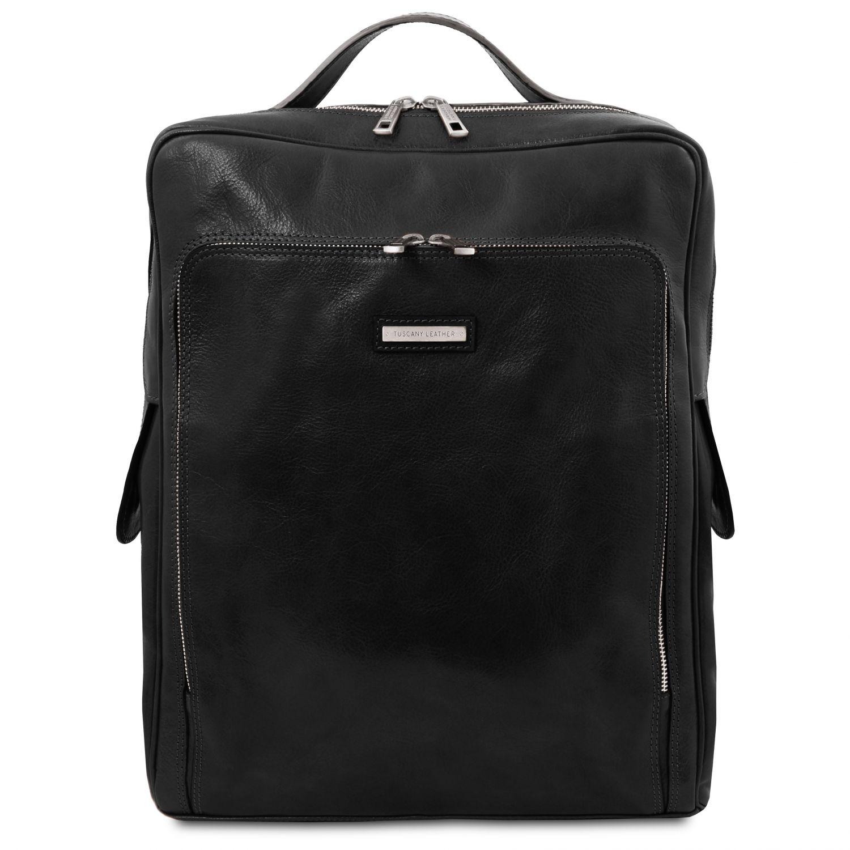 Bangkok - Kožený batoh na notebook - velký - Černá barva