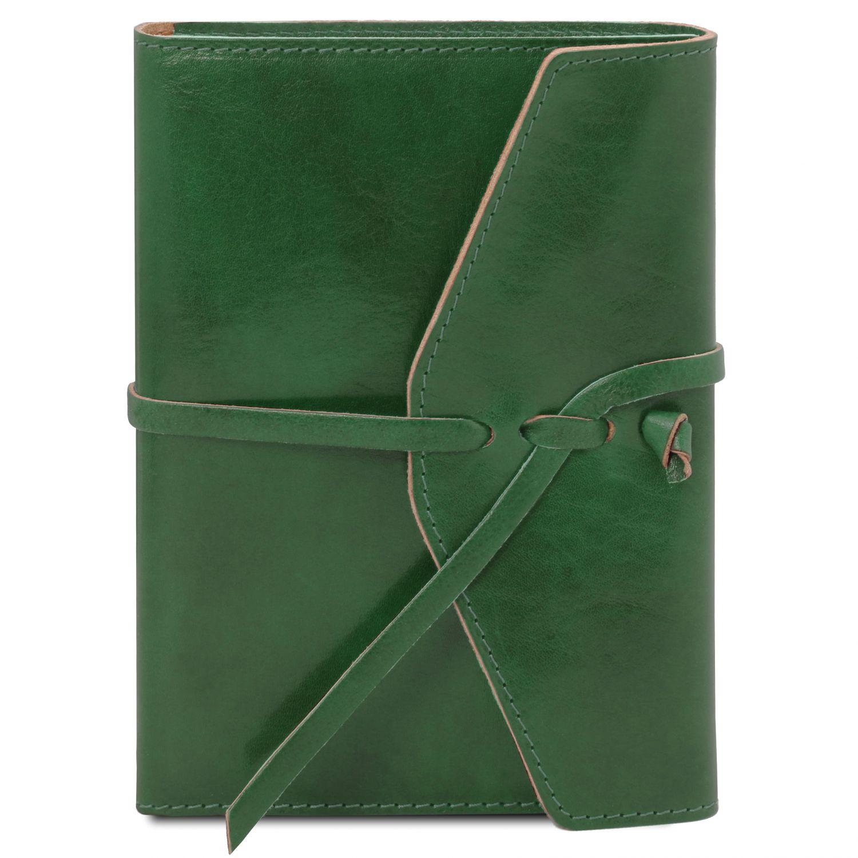 Kožený zápisník - Lesní zelená barva