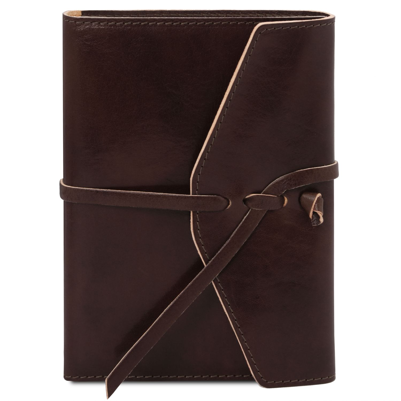 Kožený zápisník - Tmavě hnědá barva