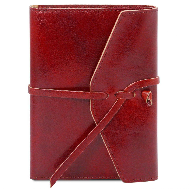 Kožený zápisník - Červená barva