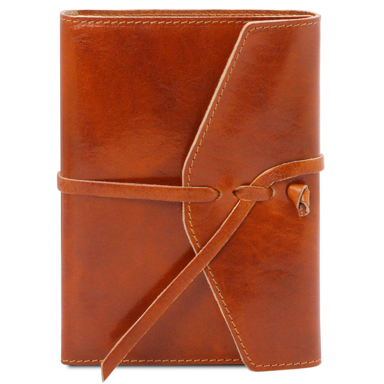 Kožený zápisník - Světle hnědá barva