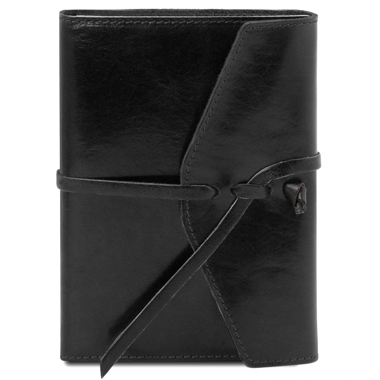 Kožený zápisník - Černá barva