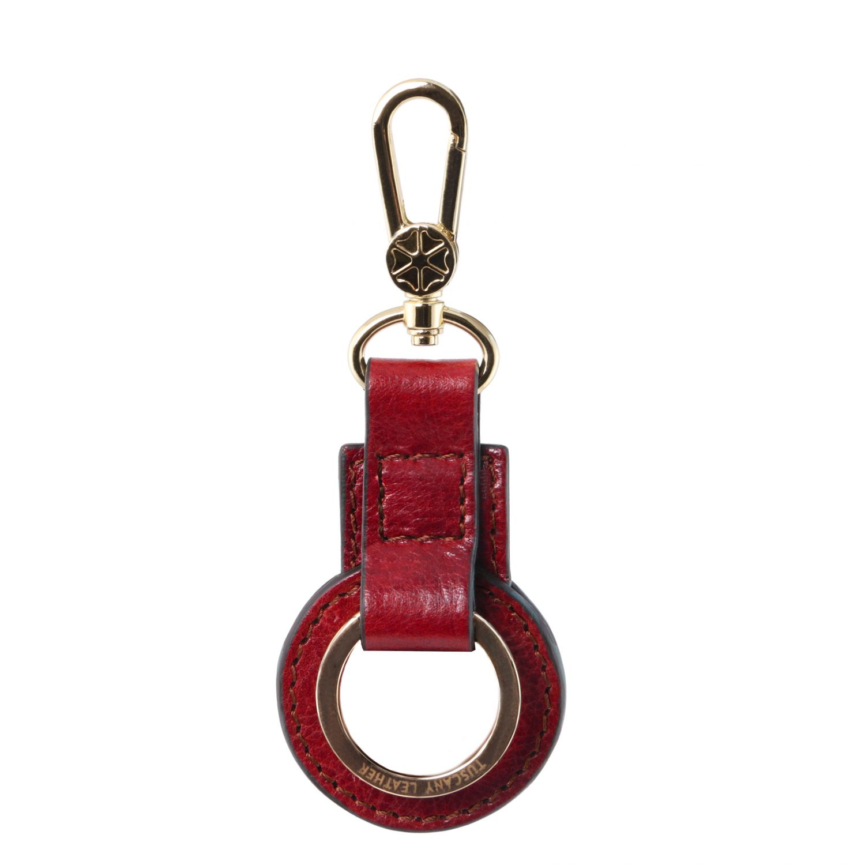 Kožená klíčenka - Červená barva