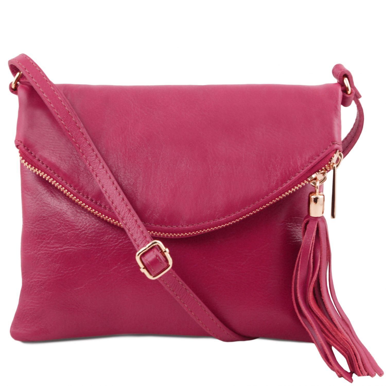 TL Young bag - Taška přes rameno se střapcovým detailem - Fuchsie barva
