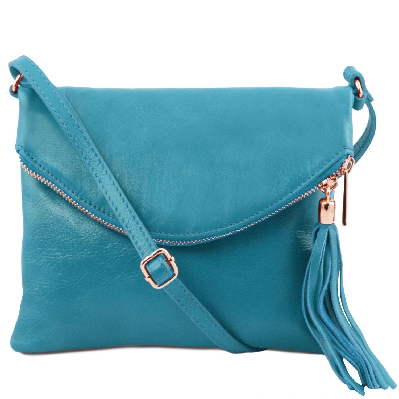 TL Young bag - Taška přes rameno se střapcovým detailem - Tyrkysová barva