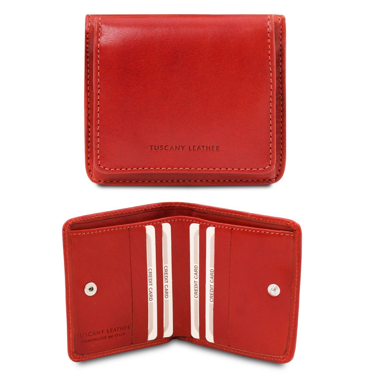 Exkluzivní kožená peněženka s kapsou na mince - Brandy barva