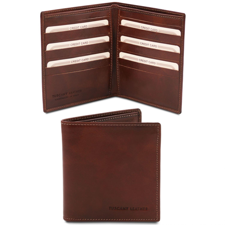 Exkluzivní 2-dílná pánská kožená peněženka - Hnědá barva