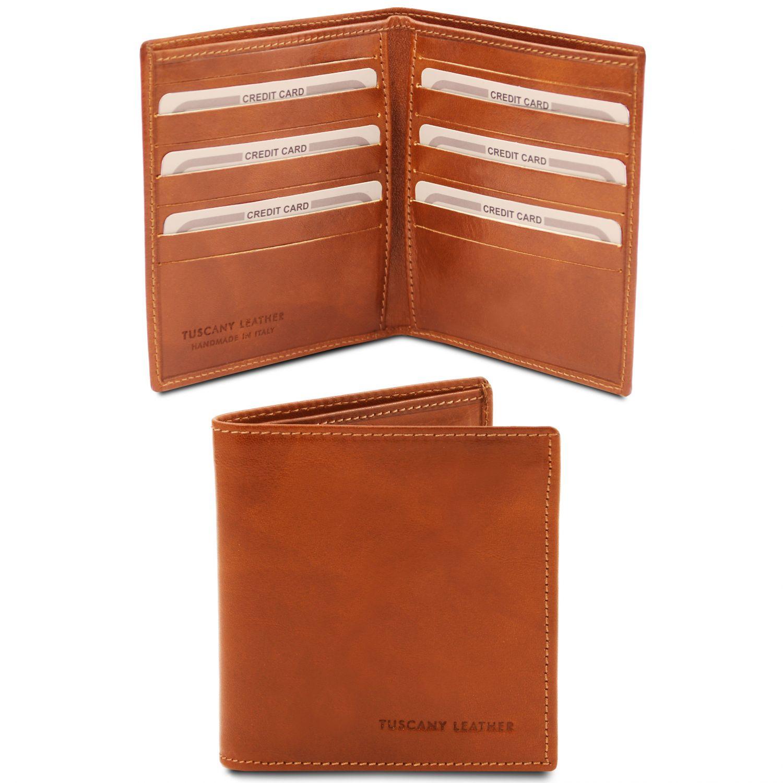 Exkluzivní 2-dílná pánská kožená peněženka - Světle hnědá barva