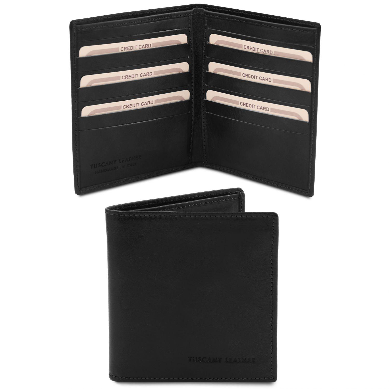Exkluzivní 2-dílná pánská kožená peněženka - Černá barva