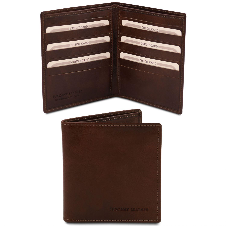 Exkluzivní 2-dílná pánská kožená peněženka - Tmavě hnědá barva
