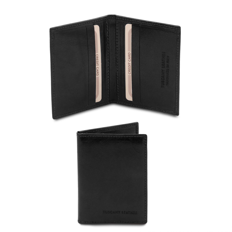 Exkluzivní kožené pouzdro na karty - Černá barva