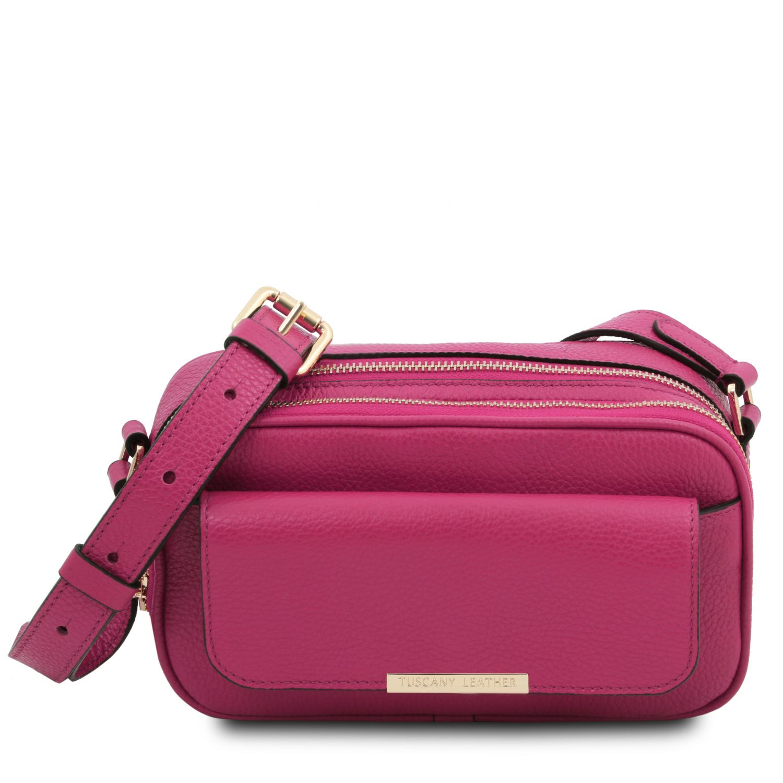 TL Bag - Kožená taška na fotoaparát - Fuchsie barva