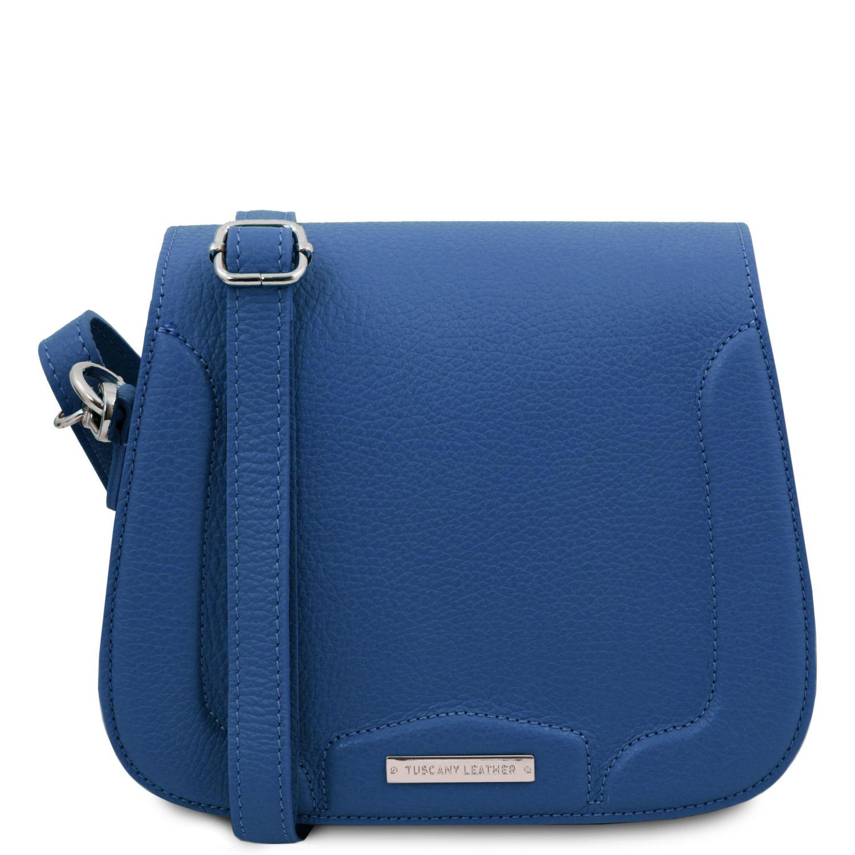 Jasmine - Kožená taška přes rameno - Modrá barva