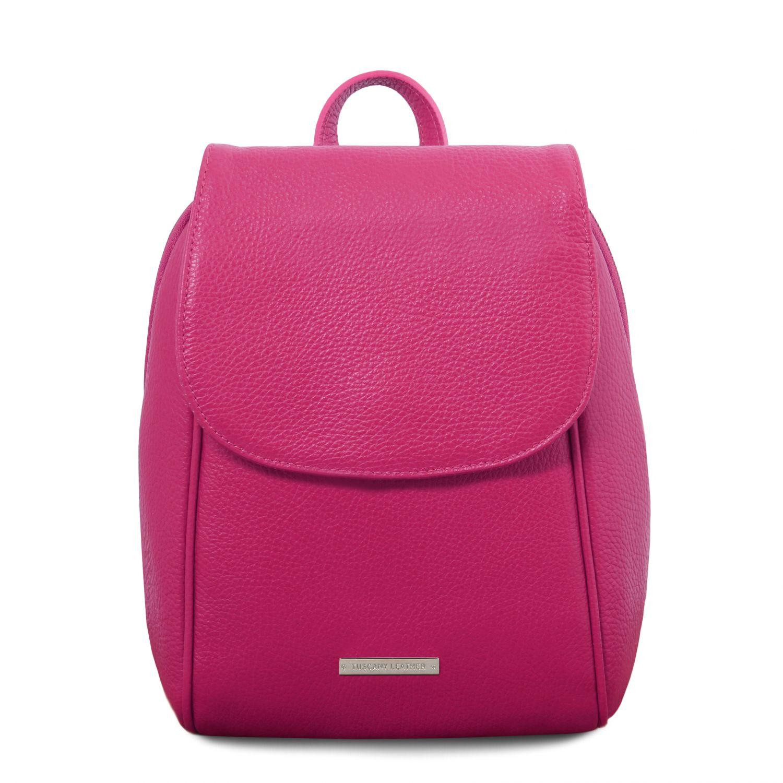 TL Bag - Batoh z měkké kůže - Fuchsie barva