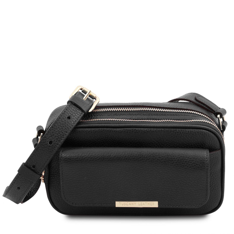 TL Bag - Kožená taška na fotoaparát - Černá barva