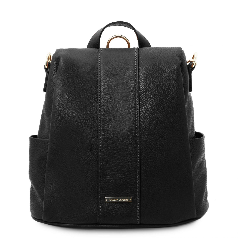 TL Bag - Batoh z měkké kůže - Černá barva