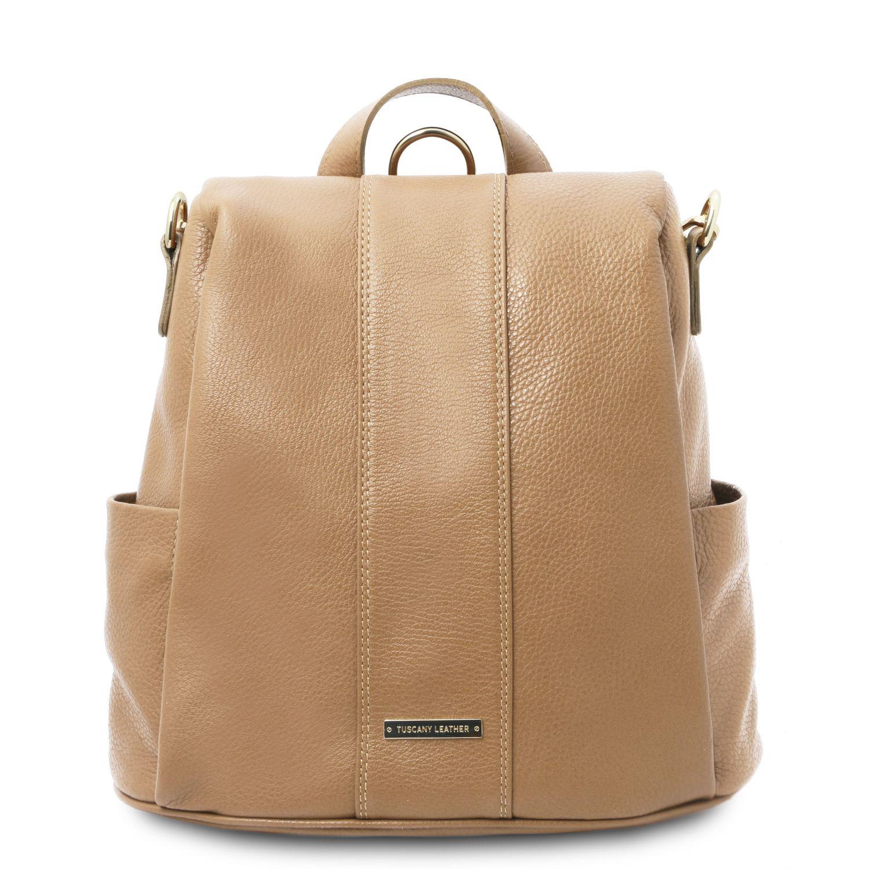 TL Bag - Batoh z měkké kůže - Starorůžová barva
