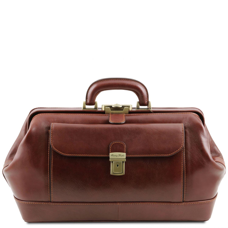 Bernini - Exkluzivní kožená doktorská taška - Hnědá barva