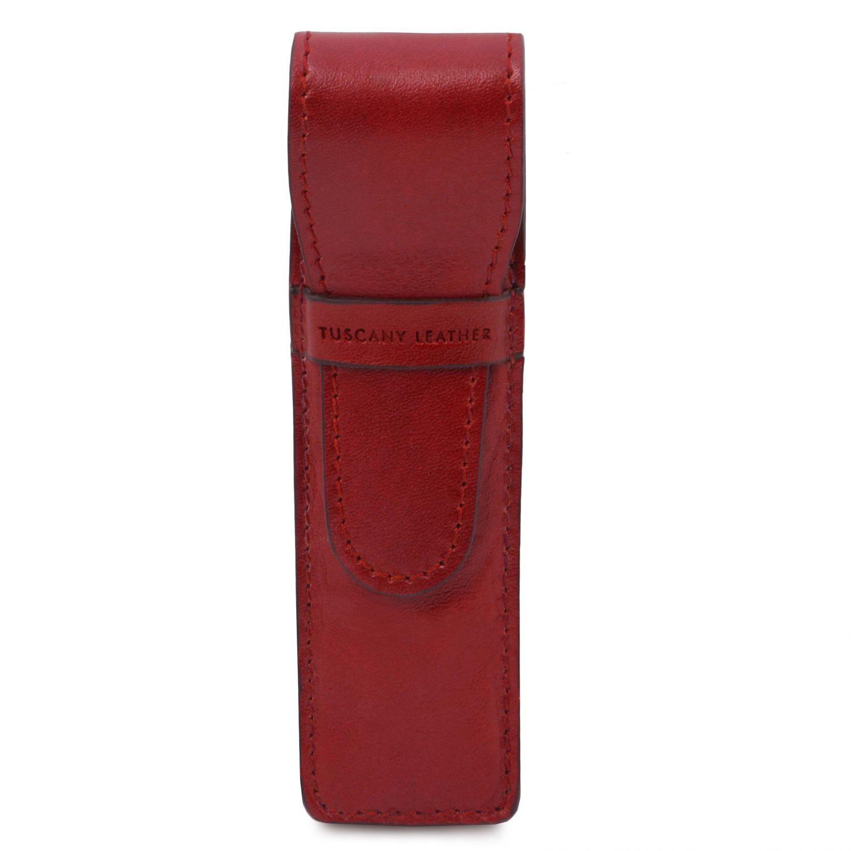 Exkluzivní kožené pouzdro na pera - Červená barva