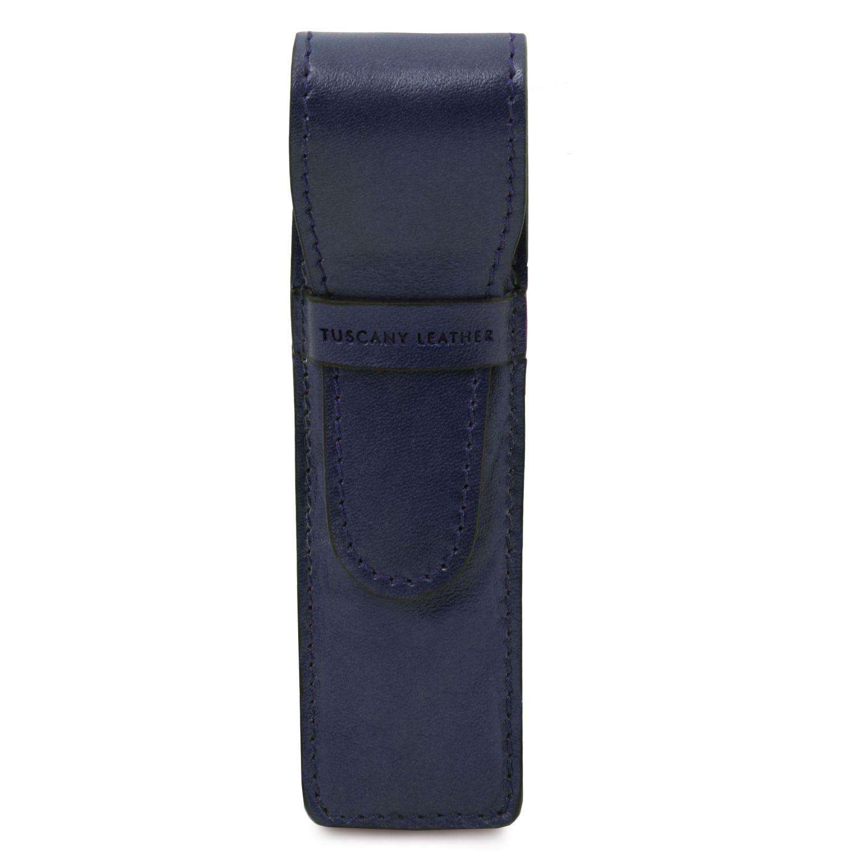 Exkluzivní kožené pouzdro na pera - Tmavě modrá barva