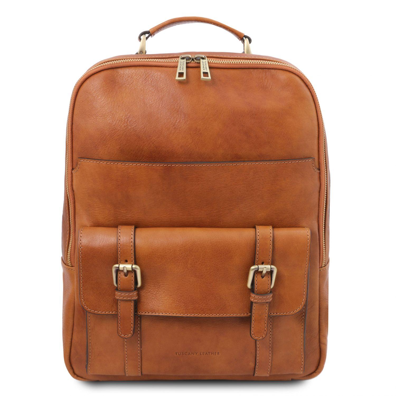 Nagoya - Kožený batoh na notebook - Světle hnědá barva