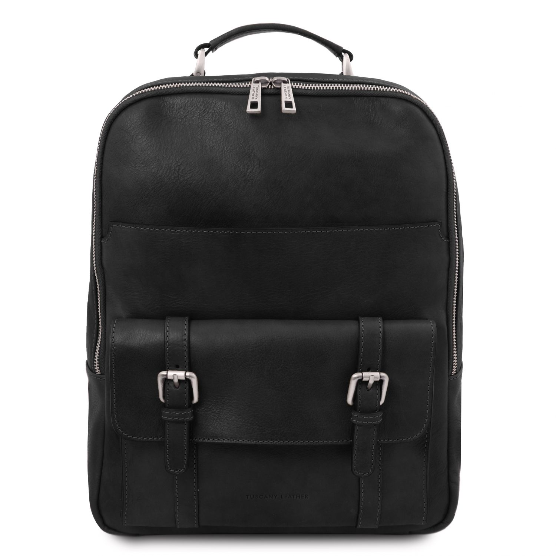 Nagoya - Kožený batoh na notebook - Černá barva