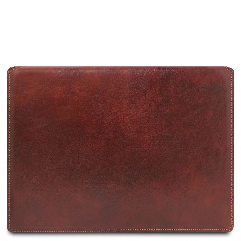 Kožená psací podložka - Hnědá barva