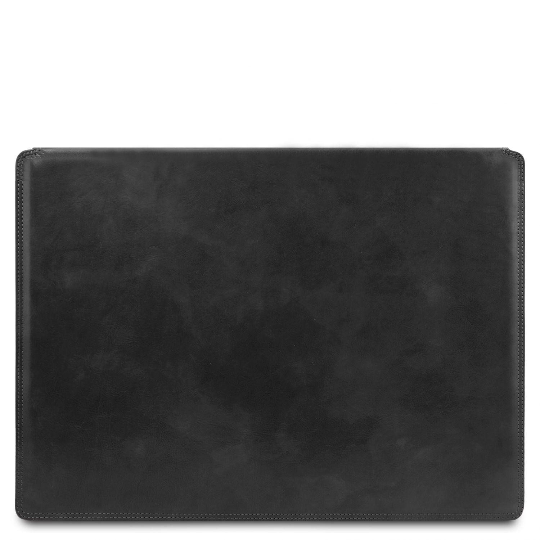Kožená psací podložka - Černá barva