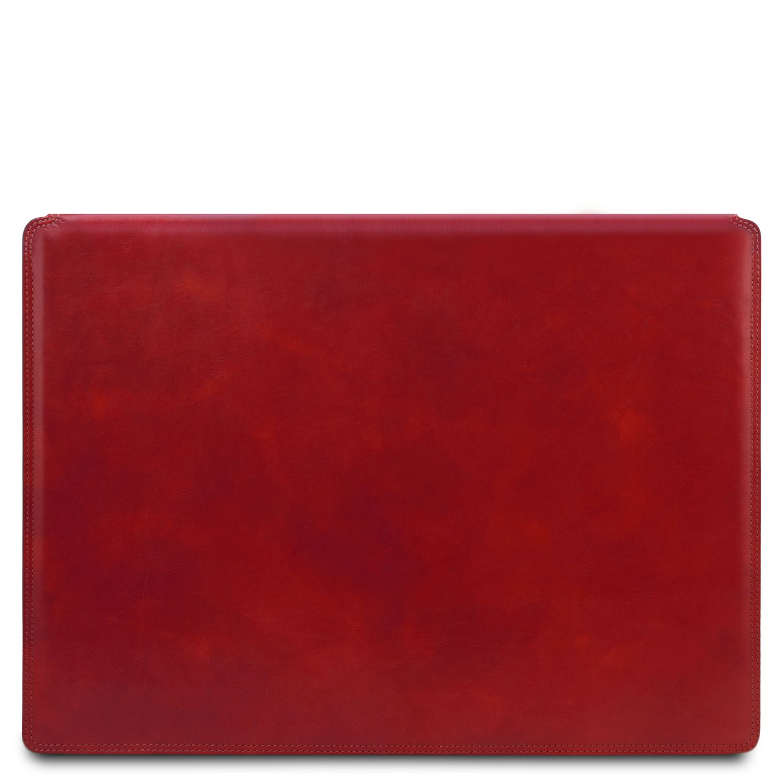 Kožená psací podložka - Červená barva