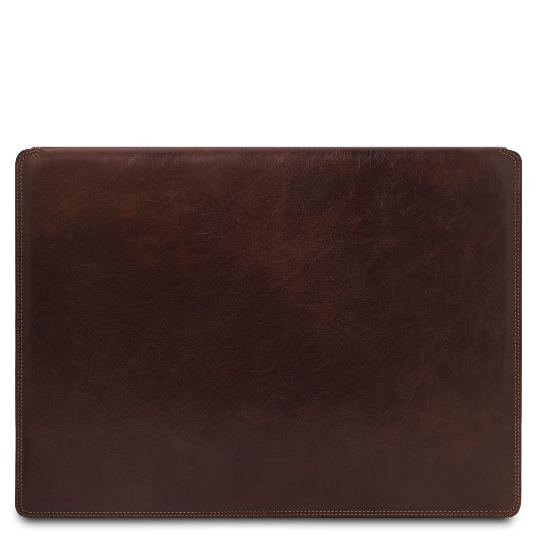 Kožená psací podložka - Tmavě hnědá barva