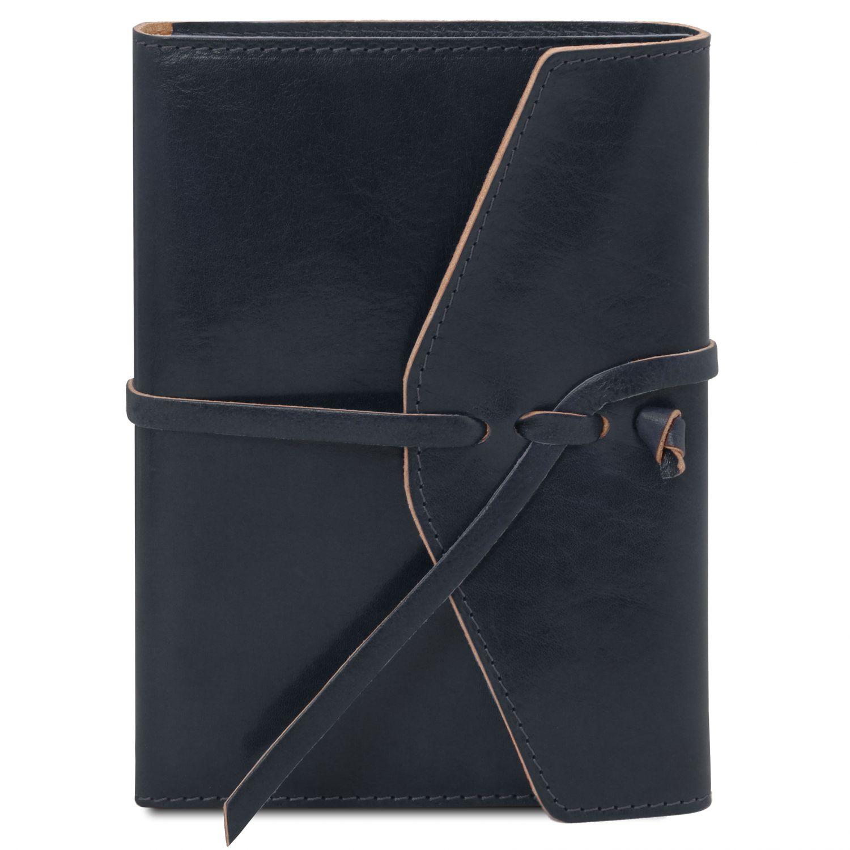Kožený zápisník - Tmavě modrá barva